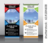 roll up banner design template... | Shutterstock .eps vector #614184608
