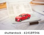 car expenses calculator ... | Shutterstock . vector #614189546