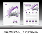 annual report brochure flyer... | Shutterstock .eps vector #614193986