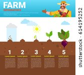 farming infographics eco... | Shutterstock .eps vector #614195252