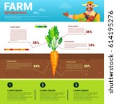 farming infographics eco... | Shutterstock .eps vector #614195276