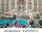 editorial  fontana di trevi  30 ...   Shutterstock . vector #614199272