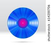 colorful vinyl disc 12 inch lp... | Shutterstock .eps vector #614200706