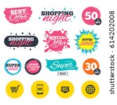 sale shopping banners. special... | Shutterstock .eps vector #614202008