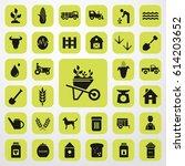 wheelbarrow icon. agriculture... | Shutterstock .eps vector #614203652