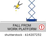 scissor lift and elevated work... | Shutterstock .eps vector #614207252
