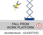 scissor lift and elevated work...   Shutterstock .eps vector #614207252