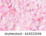spring light pink textile... | Shutterstock . vector #614213246
