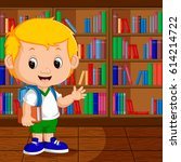 vector illustration of kids in... | Shutterstock .eps vector #614214722