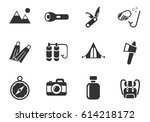active recreation web icons for ... | Shutterstock .eps vector #614218172