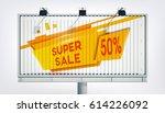 big billboard sale banner with...   Shutterstock .eps vector #614226092