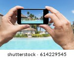taking picture of vacations in... | Shutterstock . vector #614229545