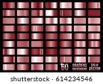 set of 60 colored metal...   Shutterstock .eps vector #614234546