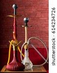 exotic turkish hookah | Shutterstock . vector #614234726