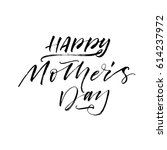 happy mother's day postcard.... | Shutterstock .eps vector #614237972