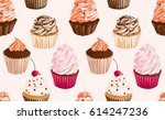 colorful seamless pattern with... | Shutterstock .eps vector #614247236