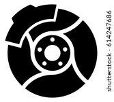 brake discs. car. auto. pads ... | Shutterstock .eps vector #614247686