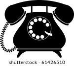 Retro Telephone. Silhouette