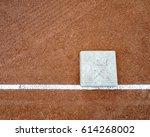 little league bases on high... | Shutterstock . vector #614268002