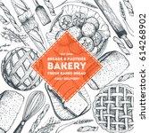 bakery illustration. vintage... | Shutterstock .eps vector #614268902