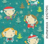 winter christmas seamless... | Shutterstock .eps vector #61427041