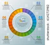vector abstract 3d paper... | Shutterstock .eps vector #614272982
