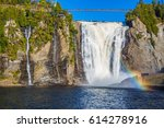 the magnificent rainbow plays... | Shutterstock . vector #614278916