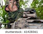 the soldier of the bundeswehr... | Shutterstock . vector #61428361