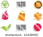 Stock vector vector shopping icon set and elements part 61428403