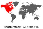 map of the world in grey color... | Shutterstock .eps vector #614286446