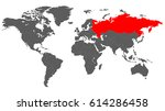 map of the world in grey color... | Shutterstock .eps vector #614286458
