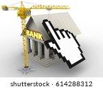 3d illustration of bank over... | Shutterstock . vector #614288312