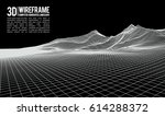 abstract vector wireframe... | Shutterstock .eps vector #614288372