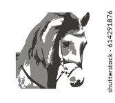hand drawn horse  vector... | Shutterstock .eps vector #614291876
