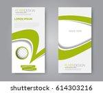 vector flyer and leaflet design.... | Shutterstock .eps vector #614303216