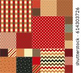 seamless patchwork pattern in... | Shutterstock .eps vector #614303726