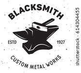 vintage blacksmith labels and... | Shutterstock .eps vector #614304455