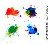 colorful splashes on white... | Shutterstock .eps vector #61430572