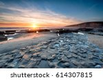 Sunset At Dunraven Bay A Large...