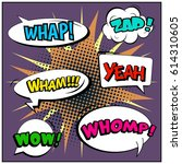 abstract creative concept comic ... | Shutterstock .eps vector #614310605
