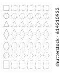 a4 worksheet for preschool kids.... | Shutterstock .eps vector #614310932
