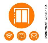 share black solid social symbol | Shutterstock .eps vector #614314415