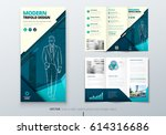 tri fold brochure design. teal...