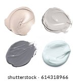 collection of face mud smears... | Shutterstock . vector #614318966