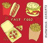 card with fast food   Shutterstock .eps vector #61431973