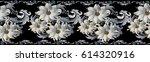 modern floral seamless border... | Shutterstock .eps vector #614320916