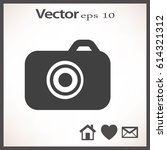 camera flat icon. | Shutterstock .eps vector #614321312