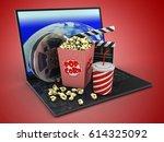 3d illustration of laptop... | Shutterstock . vector #614325092