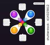 vector infographic elements.... | Shutterstock .eps vector #614325812