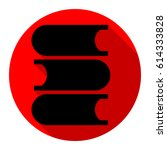 books icon. vector. flat black... | Shutterstock .eps vector #614333828